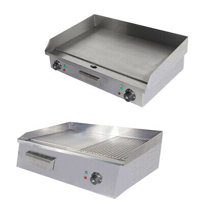 Commercial Griddle Stainless Steel Counter Top Hot Plate Meat Food Grill Plates • 122.99£