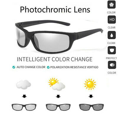AU5.57 • Buy Photochromic Polarized Sunglasses Transition Lens Outdoor Driving Sports Glasses