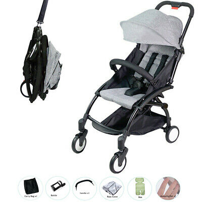 AU129.90 • Buy 2020 Grey Easy To Fold Travel Pram With All Accessories Carry-on Plane Stroller