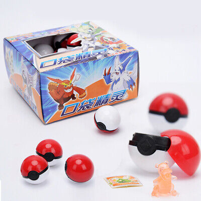 36pcs Red&White Pokemon Go Pokeball Pop-up Ball Mini Monsters Figures Kids Toy • 11.50£