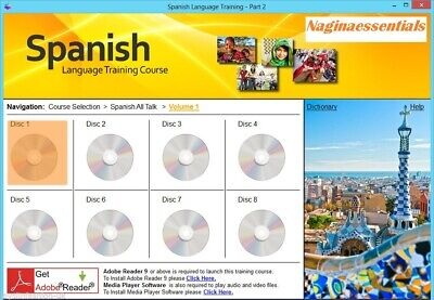 £3.99 • Buy Learn To Speak Spanish Language Training Course On 2 DVD SET - Complete Guide