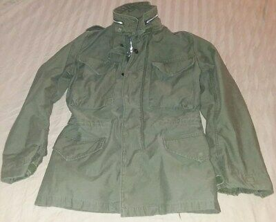 $119 • Buy Vintage Army Military M-65 M65 Cold Weather Field Jacket Coat Green X-Small