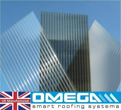 Polycarbonate Roofing Sheets - 10mm & 16mm - Clear, Bronze & Opal - Many Sizes • 44.63£