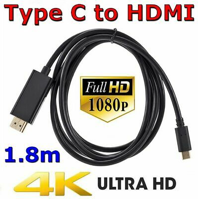 AU12.75 • Buy USB C To HDMI Cable USB Type C To HDMI 4K Cord For Samsung S8 S9 S10 + Note 8 9