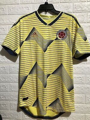 Adidas Columbia Home Authentic Jersey Size Large DN6620 Yellow Soccer 2019 • 19.99$