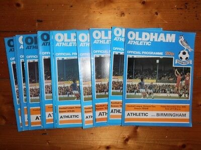 £2.60 • Buy 1979-80 OLDHAM ATHLETIC HOME PROGRAMMES - Your Choice - FREE Postage