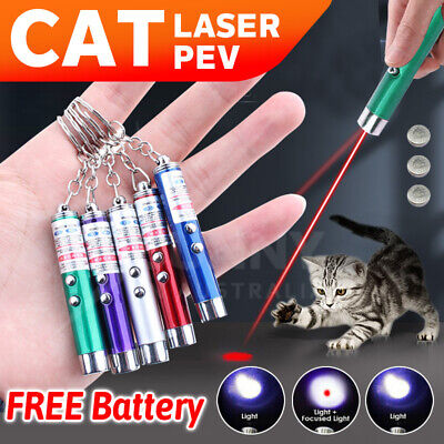 AU4.29 • Buy MINI Cat Dog Fun Pointer Red Light Laser Lazer LED Training Torch Pet Toys Pen