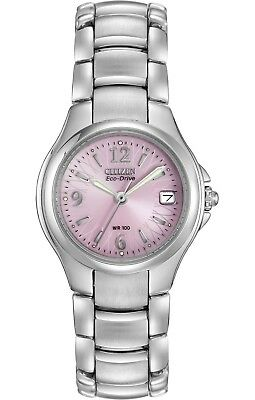 View Details Citizen Eco-Drive Women's Silhouette Pink Floral Dial 25mm Watch EW1170-51X • 44.99$