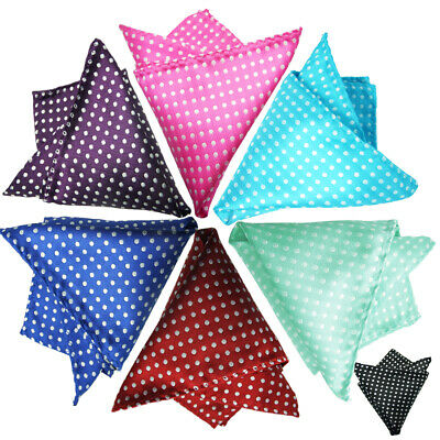 Men's Pocket Square Dots Handkerchief Hanky For Wedding, Party,Any Occasion • 1.89£