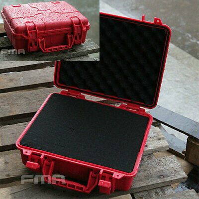 FMA Red Airsoft Tactical Plastic Case Travel Portable Carry Hard Storage Box • 24.69£