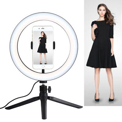 AU30.99 • Buy LED Ring Light Cell Phone Holders With Tripod Stand For Video Shooting Makeup