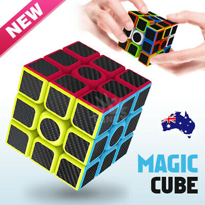 AU12.80 • Buy Magic Cube 3x3x3 Rubiks Puzzle Fast Speed Smooth Play Turns Quicker Toy Gift