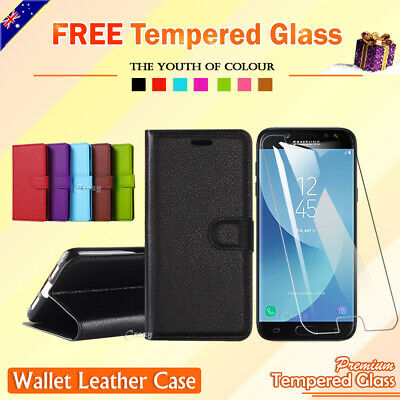 AU5.90 • Buy For Samsung Galaxy J2 Pro 2018 J5 Pro J7 Pro 2017 Leather Wallet Flip Case Cover