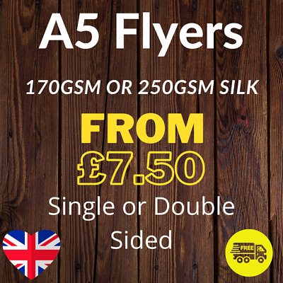 £14.16 • Buy A5 Flyers Leaflets Printed Full Colour 170gsm Or 250gsm Silk 148mm X 210mm