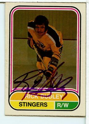 $9.99 • Buy Rick Dudley Signed 1975-76 O-Pee-Chee WHA IN PERSON AUTO IPA SAI1760