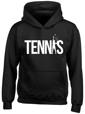 Tennis Boys Girls Childrens Kids Hooded Top Hoodie • 14.99£