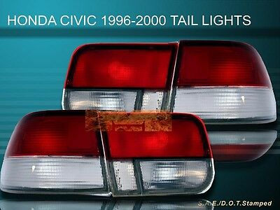 $75.99 • Buy Fit For 96-97-99 00 HONDA CIVIC LX/EX/SI 2D/2DR OEM TAIL LIGHTS