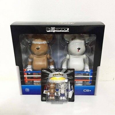 $445 • Buy NEW Bearbrick Muay Thai 100% + 400% Set - Thailand Exclusive MEDICOM  Supreme