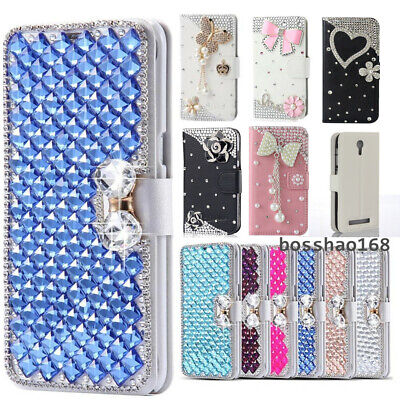 $ CDN12.46 • Buy For Samsung Galaxy S7 S8 S9 S10 Note 9 10 Glitter Leather Flip Wallet Cover Case