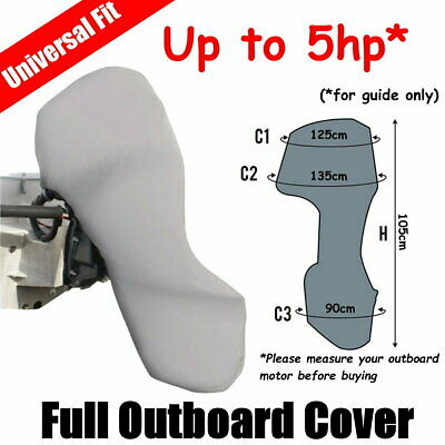 AU39 • Buy Up To 5hp Full Outboard Boat Motor Engine Cover Dust Rain Protection Grey