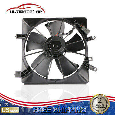 $35.90 • Buy Right Side Radiator Cooling Fan W/ AC Condenser For 01-05 Honda Civic 1.7L