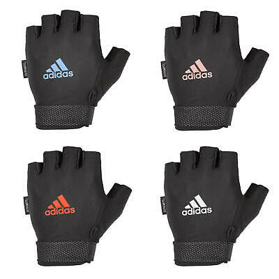 £9.99 • Buy Adidas Adjustable Essential Gloves Weight Lifting Fitness Training Gym Workout