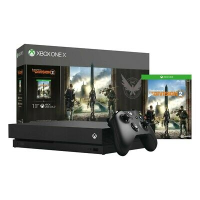 $469.31 • Buy Microsoft CYV-00255 Xbox One X 1TB The Division 2 Bundle