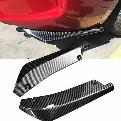 $ CDN20.12 • Buy Carbon Fiber 2PCS Rear Bumper Lip Diffuser Splitter Canard Protector Accessories