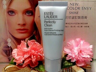 Estee Lauder Perfectly Clean Multi-Action Foam Cleanser Purifying Mask 30ml NEW • 5.78£