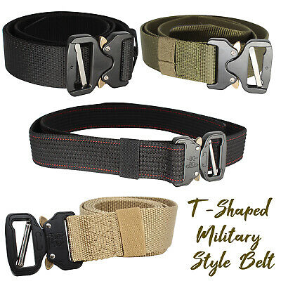 Men Quick Release Buckle Army Trouser Waist Belt Military Tactical Nylon Webbing • 6.95£