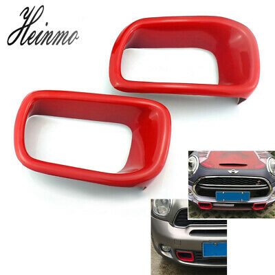 $37.99 • Buy Front Bumper Brake Air Duct Cover For MINI Cooper Hardtop Hatchback F55 F56 Red