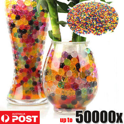 AU4.95 • Buy 50000X Orbeez Mixed Colours Crystal Water Plant Beads Bio Hydro Gel Ball Garden