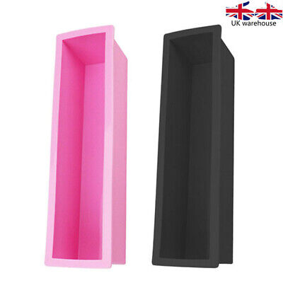 Rectangle Loaf Soap Mold Silicone DIY Cold Processing Tools Cake Baking Toast • 5.99£