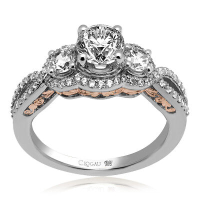 Clogau Compose 18ct White Rose Gold Bella Engagement Ring £1865 Off! 0.3ct. • 1,865£
