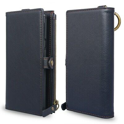 AU39.99 • Buy Leather Wallet Case With Credit Card Holder Slot Wallet Comfy Stand View Design