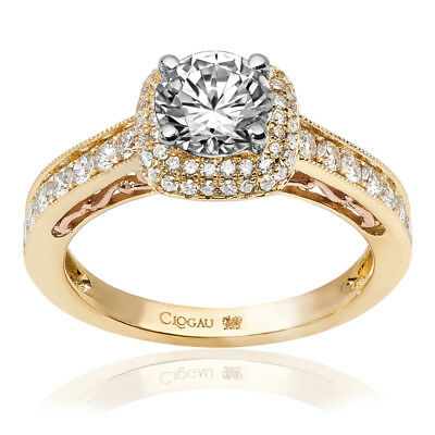 Clogau Compose 18ct Yellow Rose Gold Cecilia Engagement Ring £2140 Off! 0.5ct. • 2,140£