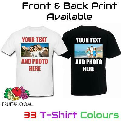 £8.99 • Buy Personalised T Shirt Custom Photo Your Image Text Here Printed Stag Do Hen Party
