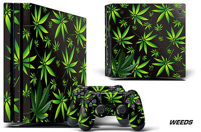 AU23.11 • Buy Skin Decal Wrap For PS4 Pro Playstation 4 Pro Console + Controller Stickers WEED