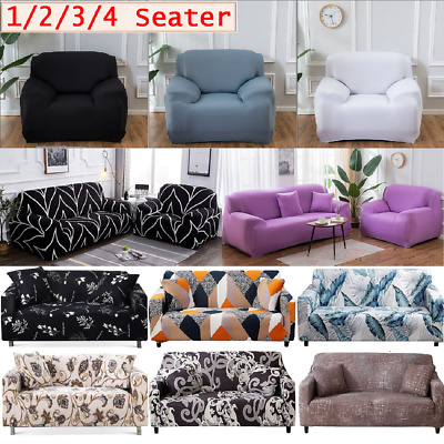 AU28.49 • Buy 1/2/3/4 Stretch Sofa Slip Covers Couch Cover Lounge Covers Sofa Cover Slipcovers