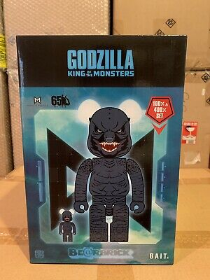 $215 • Buy NEW SDCC 2019 Be@rbrick BAIT Godzilla Bearbrick 400% + 100% Set Godzilla Monster