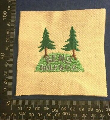 Embroidered Cloth Patch Badge Patchwork - Bend Golf Club  (dd74) • 4.49£