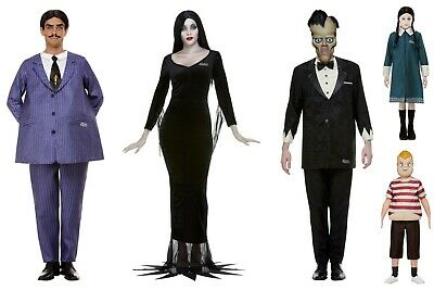 Adult Kids All Addams Family Values Cast Fancy Dress Costumes Halloween Outfits • 43.72£