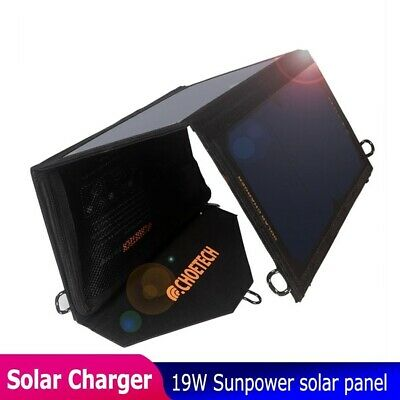 £87.46 • Buy Waterproof Solar USB Charger 19w Panel With Auto Detect Tech For IPhone Samsung