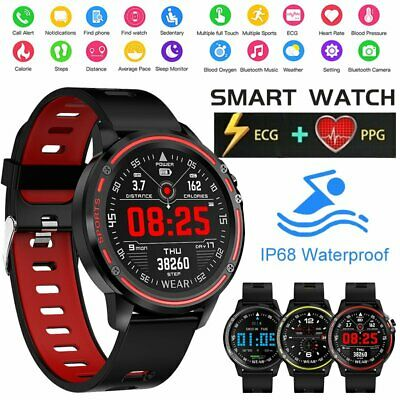 AU58.39 • Buy L8 Smart Watch Bluetooth Heart Rate Monitor Fitness Waterproof For Android IOS