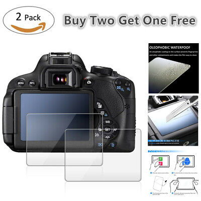 AU6.78 • Buy 2 Pcs 9H Tempered Glass LCD Screen Protector For Sony A6400 A6300 A6000 Camera