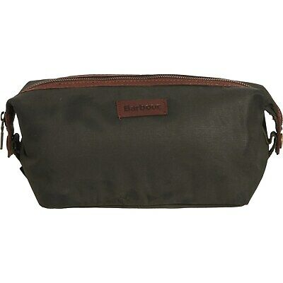 £38.93 • Buy BARBOUR Dry Wax Convertible Washbag Shaving Kit - Olive Green