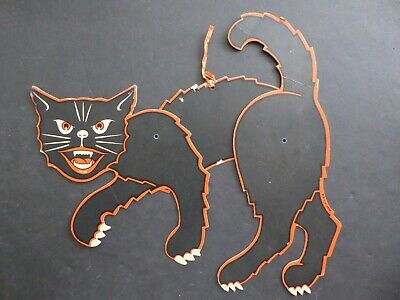 $ CDN10.45 • Buy Vintage 50's Halloween Large Articulated Black Cat~made In U.S.A.