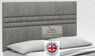 NEW BED HEADBOARD 20  Single Double Kngsize FOR ALL DIVAN BEDS - CHENILLE FABRIC • 47.99£