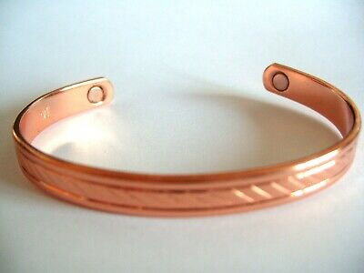 Ladies Copper Magnetic Therapy Bracelet / Bangle Arthritis Pain Relief  • 5.99£