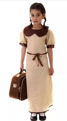 Best Dressed Girls' WW2 Evacuee Costume Dress Age 4-6 Years • 6£